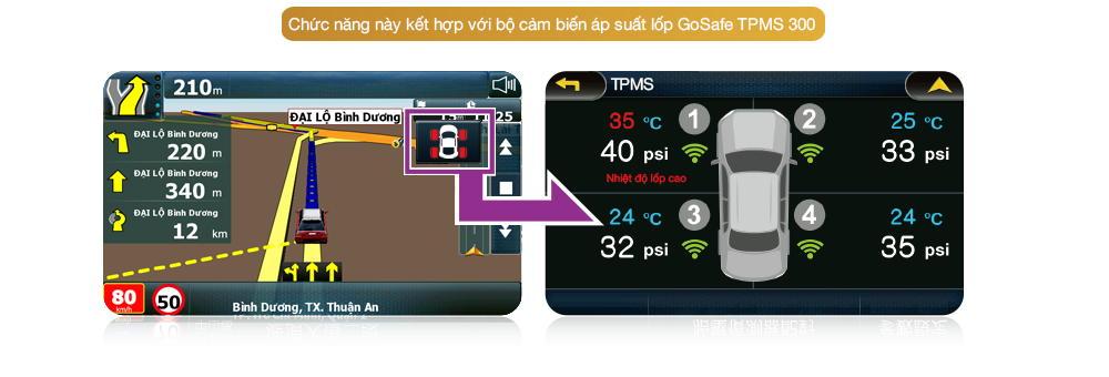 Kết nối cảm biến áp suất lốp xe TPMS 300