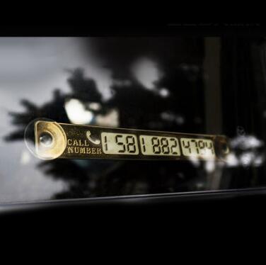 Bảng số điện thoại cho xe ô tô