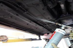 Quy trình sơn phủ gầm cho xe ô tô