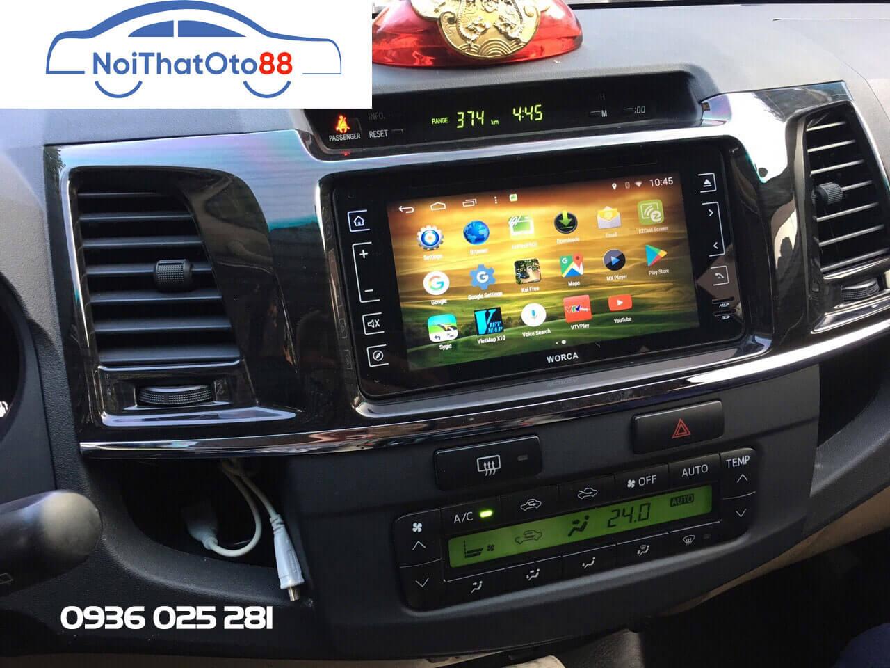 Màn hình DVD Android Worca S160 cho cho xe Fortuner