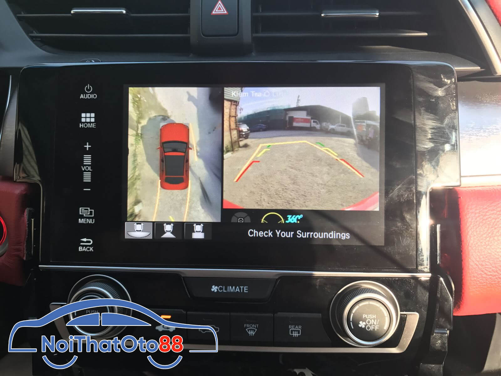 Camera 360 cho xe Honda Civic
