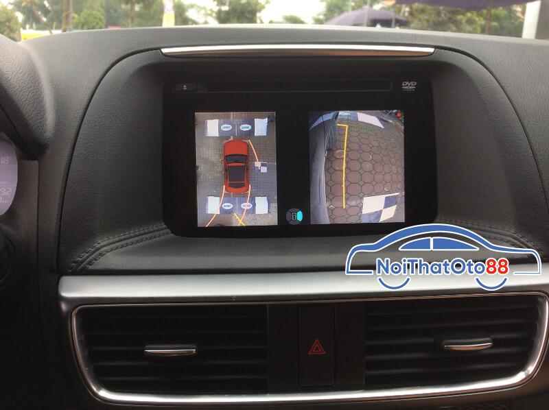 Lắp đặt camera 360 độ cho xe Mazda CX5