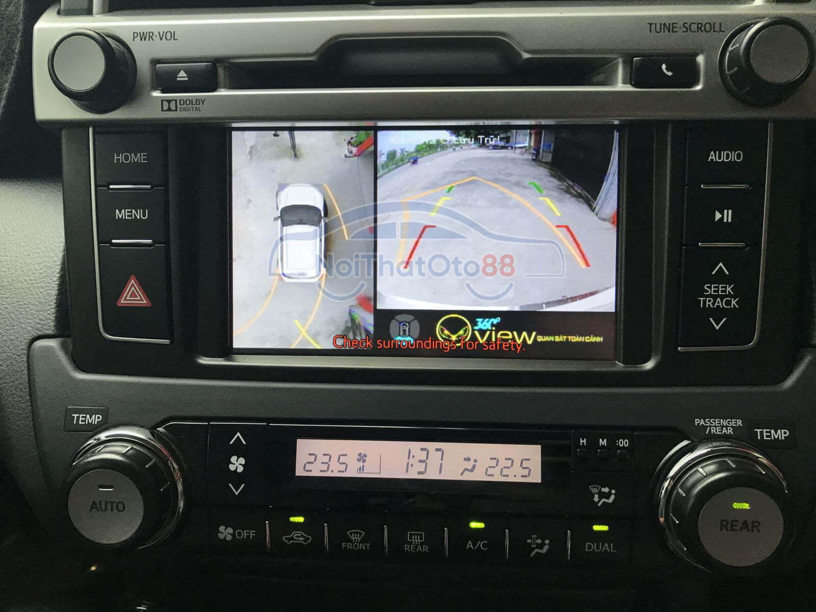Camera 360 cho xe Toyota Land Cruise Prado
