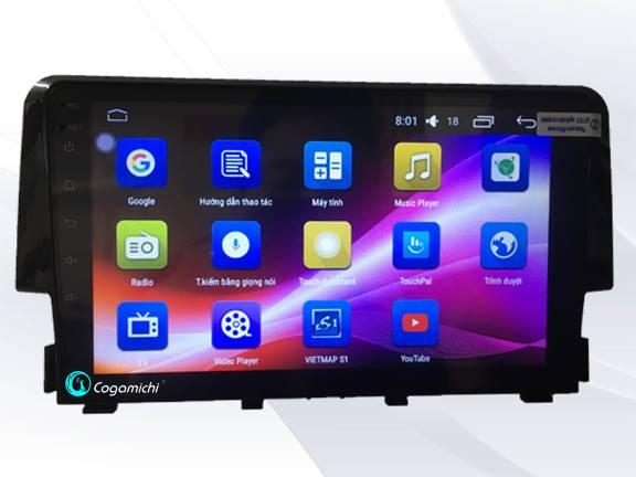 Màn hình DVD Android cho xe Honda Civic chính hãng