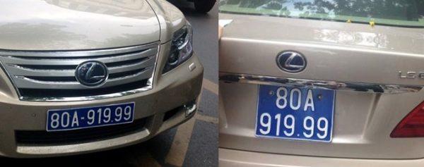 Màu sắc của biển số xe Nam Định