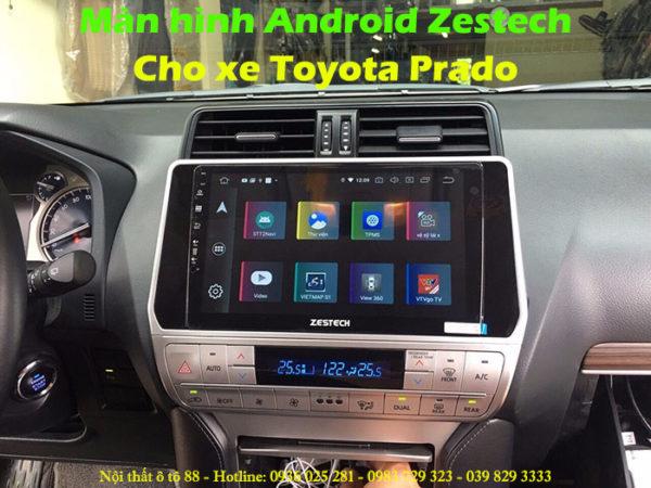 man hinh Android Zestech cho xe Toyota Prado