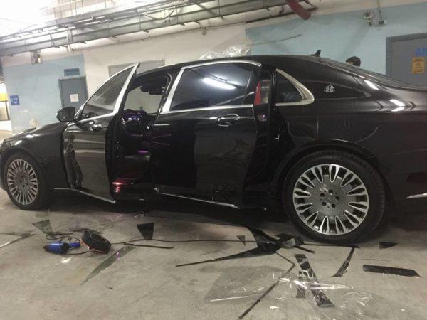 Dán phim cách nhiệt cho Lexus đen