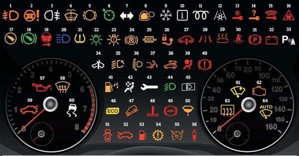 ý nghĩa các đèn cảnh báo trên bảng táp lô xe tô?