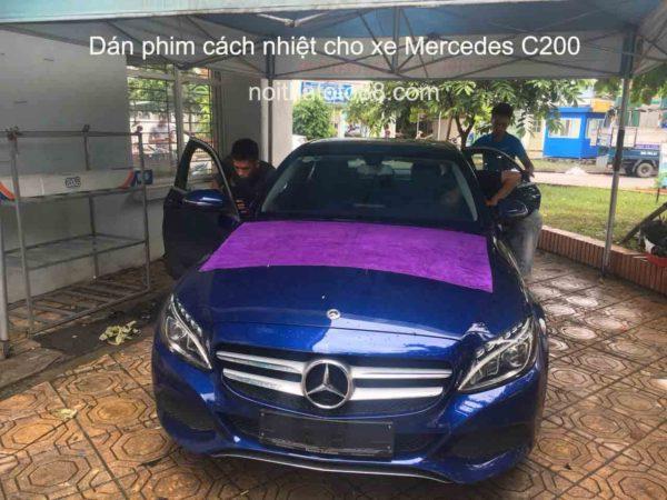 Dán phim cách nhiệt cho xe Mercedes C200