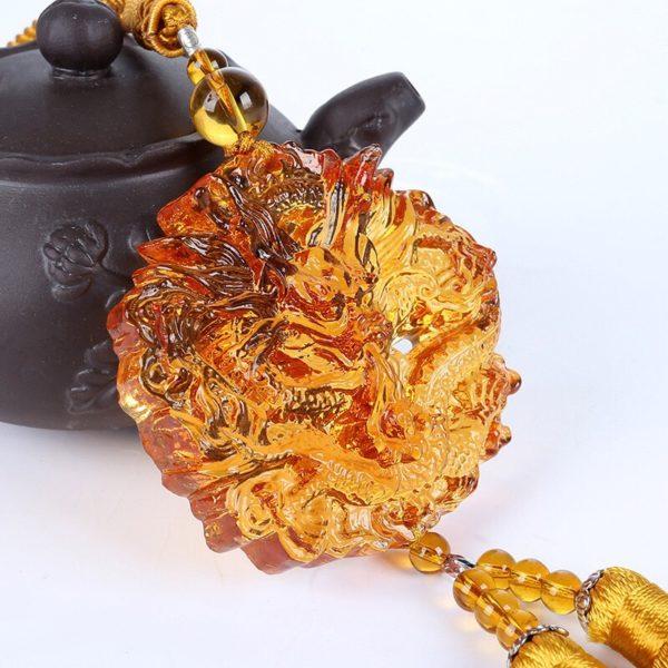 Đá Phong Thủy- Ngọc Bội Rồng Vàng