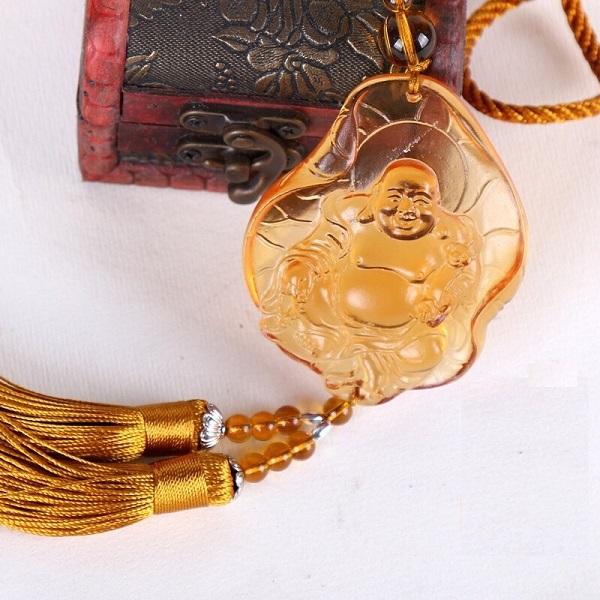 Ngọc Bội Phong Thủy- Phật tựa lá sen