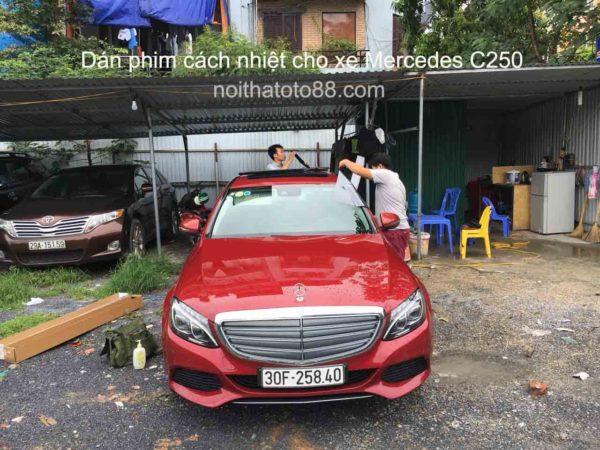 Dán phim cách nhiệt cho xe Mercedes C250