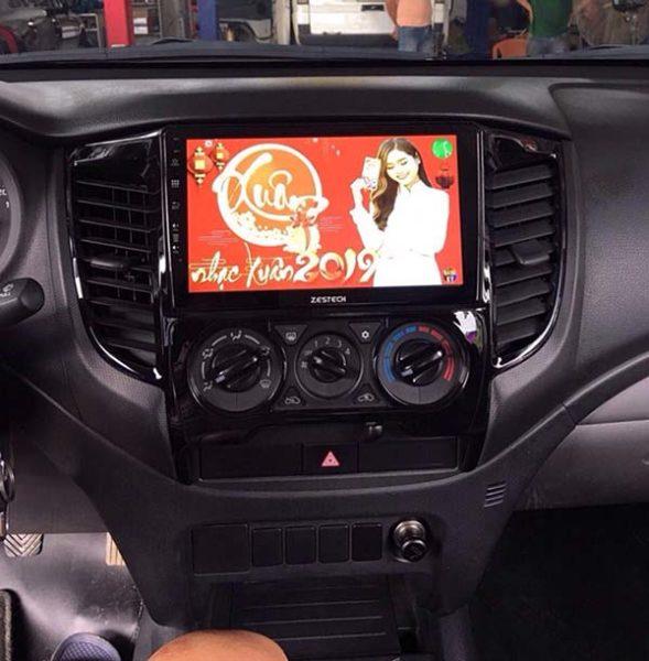 man hinh zestech cho xe Mitsubishi Trion
