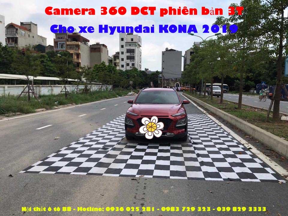 Camera 360 DCT phiên bản 3T cho xe Hyundai KONA 2019