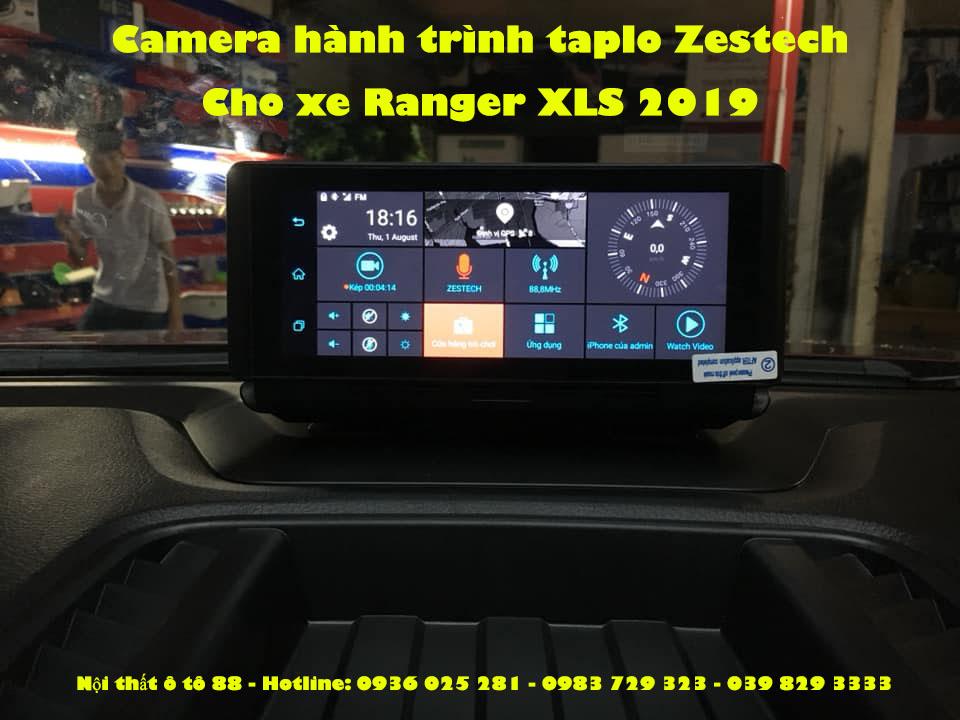 Camera hành trình taplo Zestech S8plus lắp cho xe Ranger XLS 2019