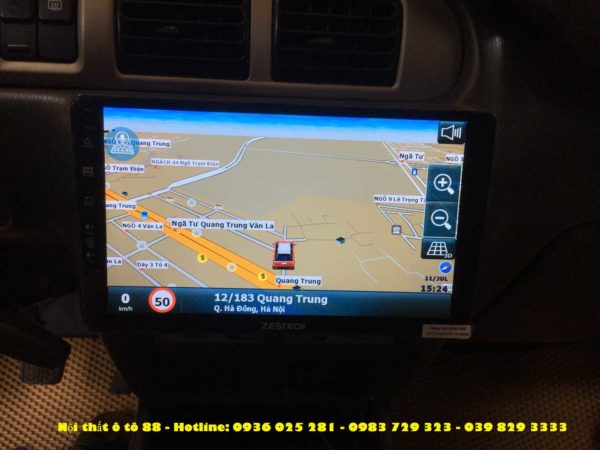 man hinh android cho xe Ford Everest