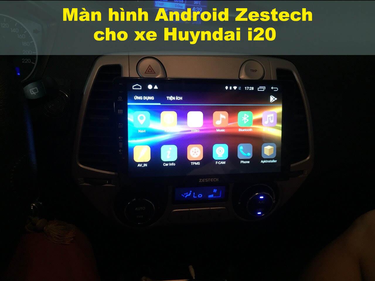 Màn DVD Android cho xe Hyundai i20
