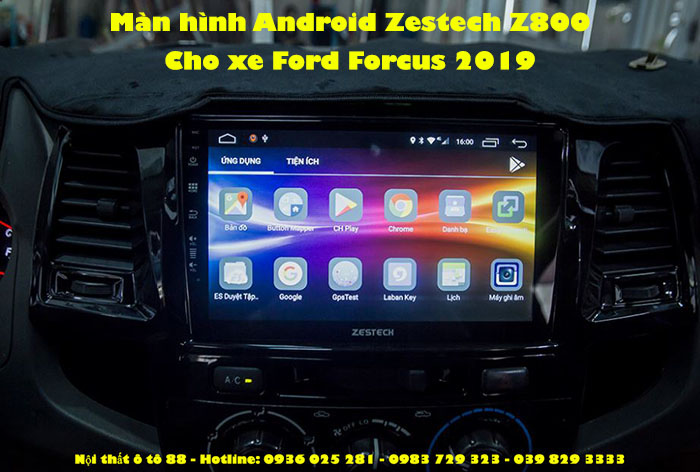 Màn hình Android Zestech Z800 cho xe Ford Forcus 2019