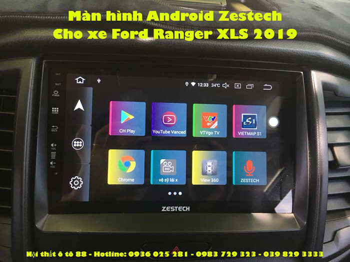 Màn hình Android Zestech cho xe Ford Ranger XLS