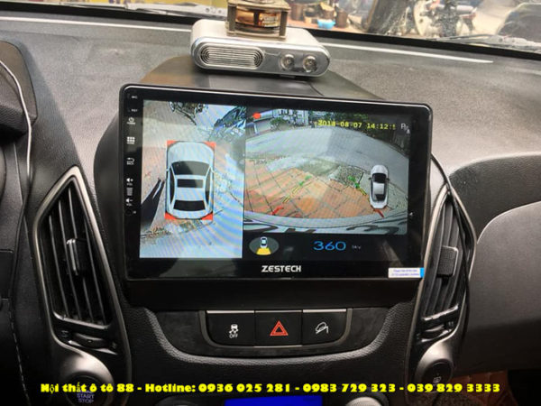 Man hinh Android Zestech cho xe Tucson 2014