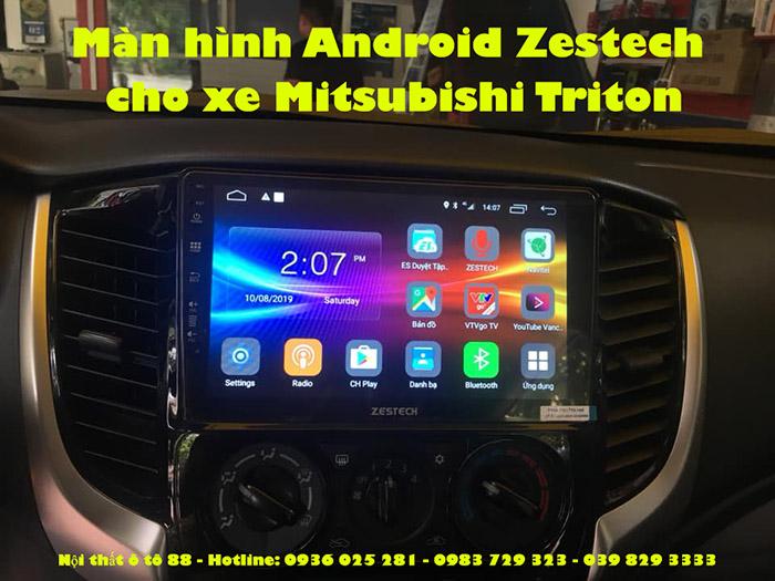 Màn hình Android Zestech cho xe Mitsubishi Triton