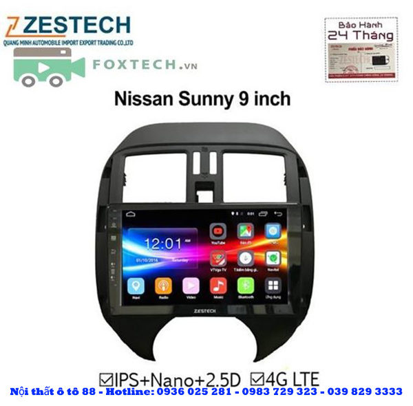 Man hinh Android Zestech cho xe Nissan Sunny 2018